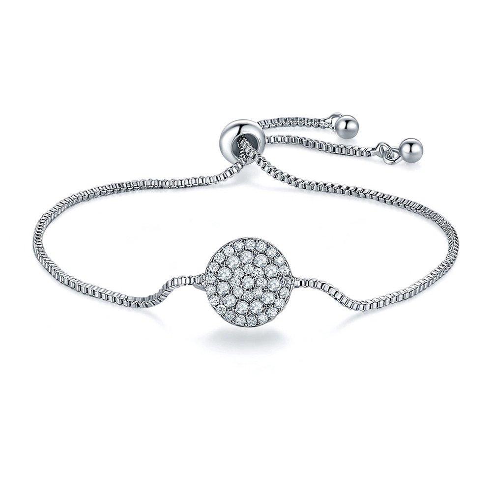 Mrsrui AAA Cubic Zirconia Bracelet Multicolor Crystal Oval Tennis Bracelet for Women (C)