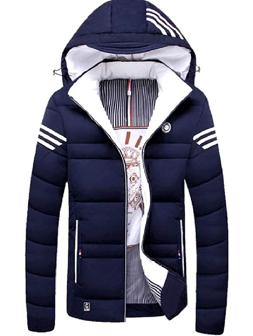 bluee Sayah Mens Cotton Thicken Hooded with Zip Relaxed-Fit Relaxed-Fit Relaxed-Fit Parka Jacket Coat Outwear 44d642