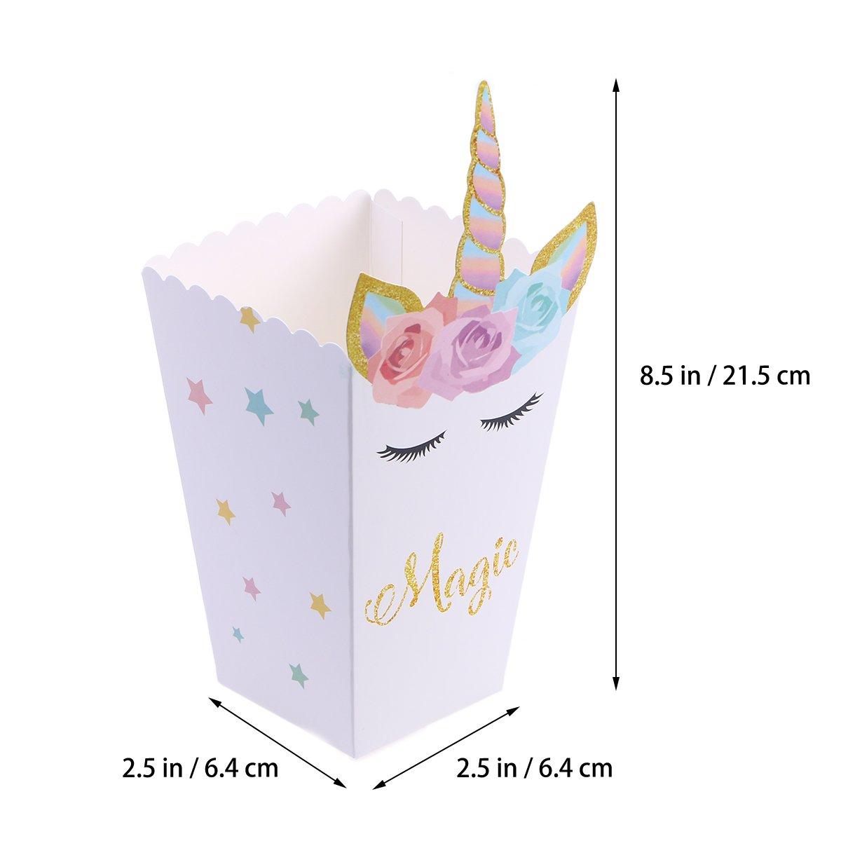 Amazon.com: TOYMYTOY Unicorn Popcorn Boxes Paper Popcorn Bag Theme Party Favor Supplies Decoration Set of 12: Toys & Games