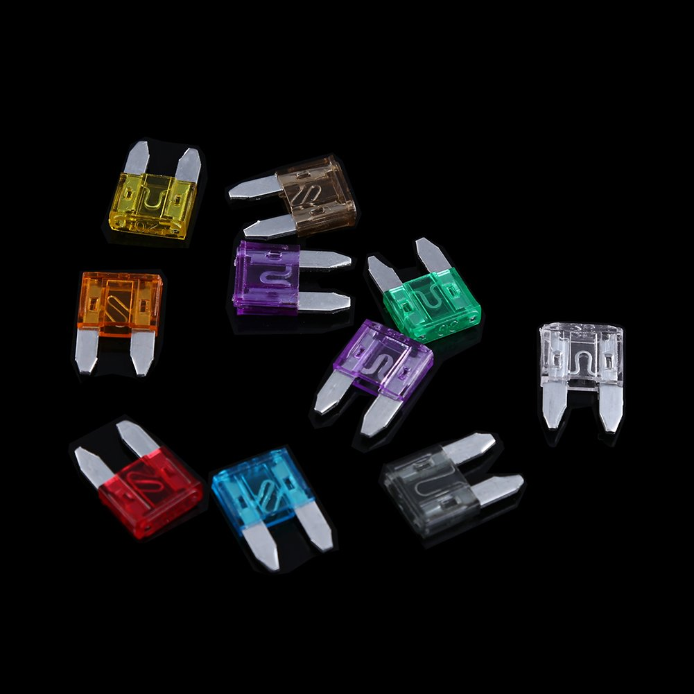100 pcs Auto Mini Blade Fuse Kit Clip for Car Truck SUV RV Boat 2A 3A 5A 7.5A 10A 15A 20A 25A 30A 35A Standard Assorted Replacement Fuses Set with Electrical Test Pen