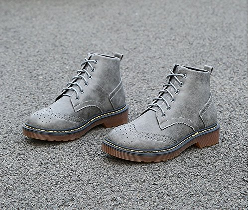 Bullock Classic Suede JiYe Women's Shoes Boots grey Ankle 6SZ6wYHxq