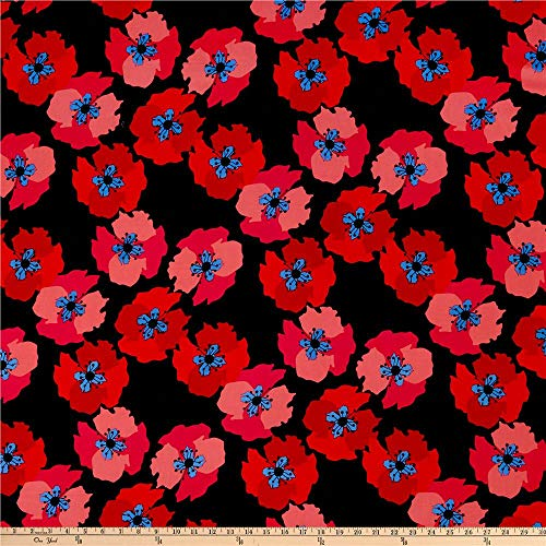 """100/% 45/"""" CRAFT COTTON PRINTED FABRIC DESIGNER PICASSO WATERPAINT FLORAL PATTERN"""