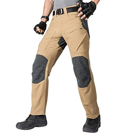 bc919789738a FREE SOLDIER Men s Waterproof Pants Kevlar Tactical Pants for Hiking  Climbing Duty Work Pants (Wolf