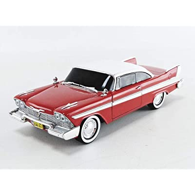 Greenlight 1: 24 Hollywood - Christine - 1958 Plymouth Fury Evil Version (Blacked Out Windows) 84082 Red: Toys & Games