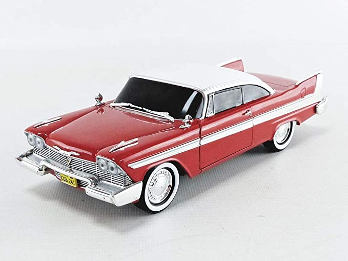 Plymouth Fury Christine Evil Blacked Out Windows 1958 rot Film  Movie 1:43 Green