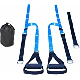 TickTockFitness Suspension Workout System - Core Strength Trainer & Body Weight Workout Home Fitness and Gym Equipment