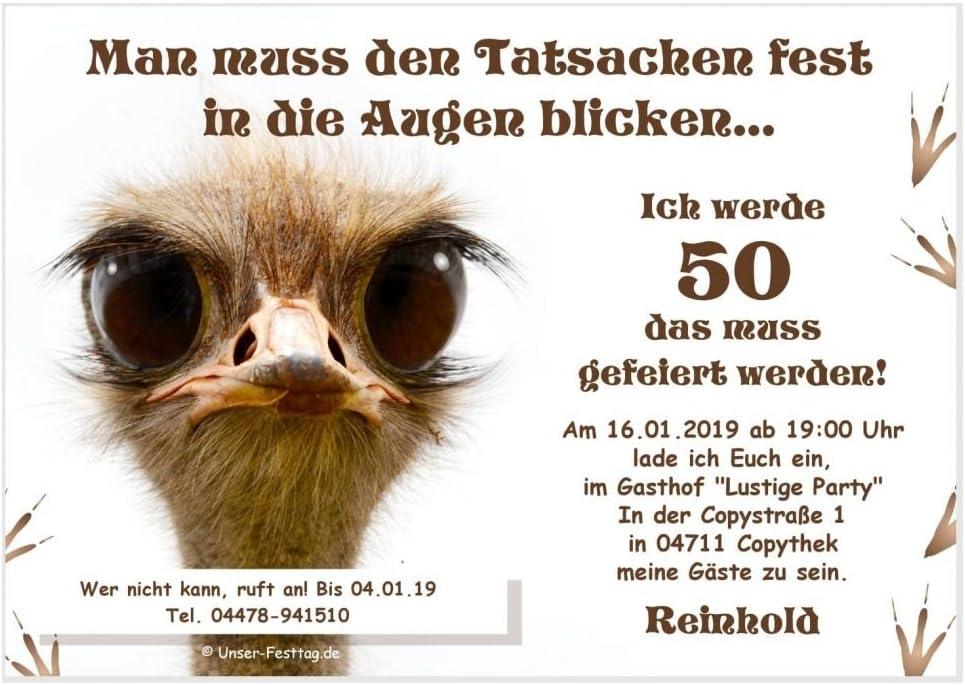 Einladungskarten Geburtstag Party Feier Fest runder 40 50 60 witzig originell