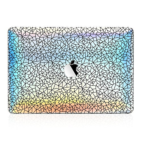 Unik Case - Abstract Line Holographic Color Changing Rubberized Hard Case for MacBook Pro 13-inch A1706,A1989 with Touch Bar / A1708 without Touch Bar ( Release 2016/17/18 ) by UNIK CASE (Image #2)