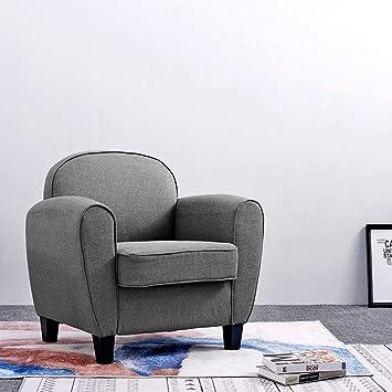 Anaelle Pandamoto Canapé Sofa Tissu De Lin Moderne Chaise Fauteuil Canapé  Pour Salle à Manger,