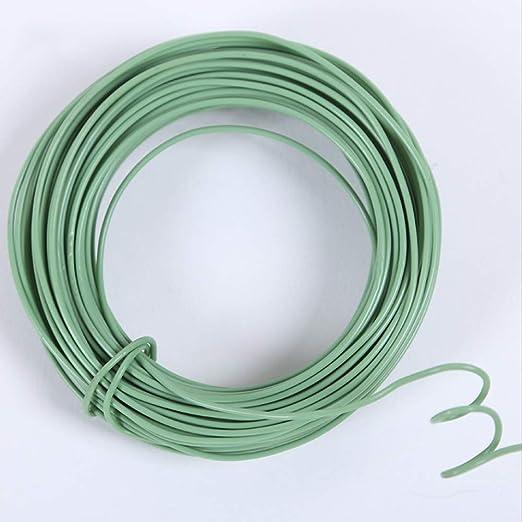 Rollo de alambre de plástico para plantas de jardín, 65 pies, 2 mm, color verde: Amazon.es: Jardín