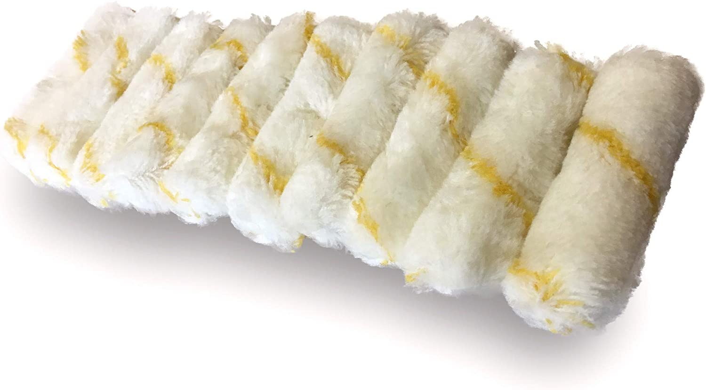 con zampe di coniglio Lotto di 10 mini rotoli KIBROS 4KIT741 100 mm in poliammide colore: Giallo
