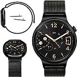 TopACE Huawei Fit 時計バンド ステンレス製 交換ベルト 時計ベルト(ブラック)