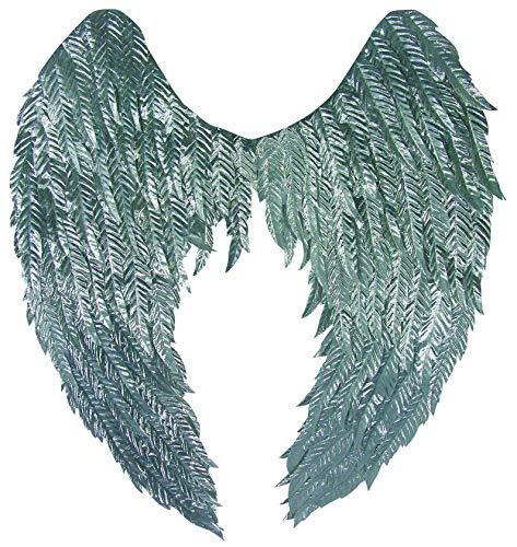 Forum Novelties Women's Standard Silver Metallic Non-Feathered Wings, One Size -