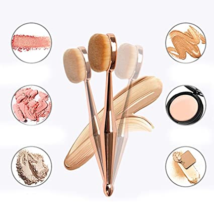 1 cepillo de dientes de sirena Taottao para maquillaje con base ovalada