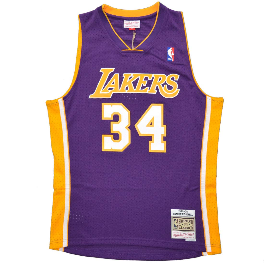 Mitchell /& Ness Swingman Jersey Los Angeles Lakers Shaquille ONeal #34 Purple 99-00