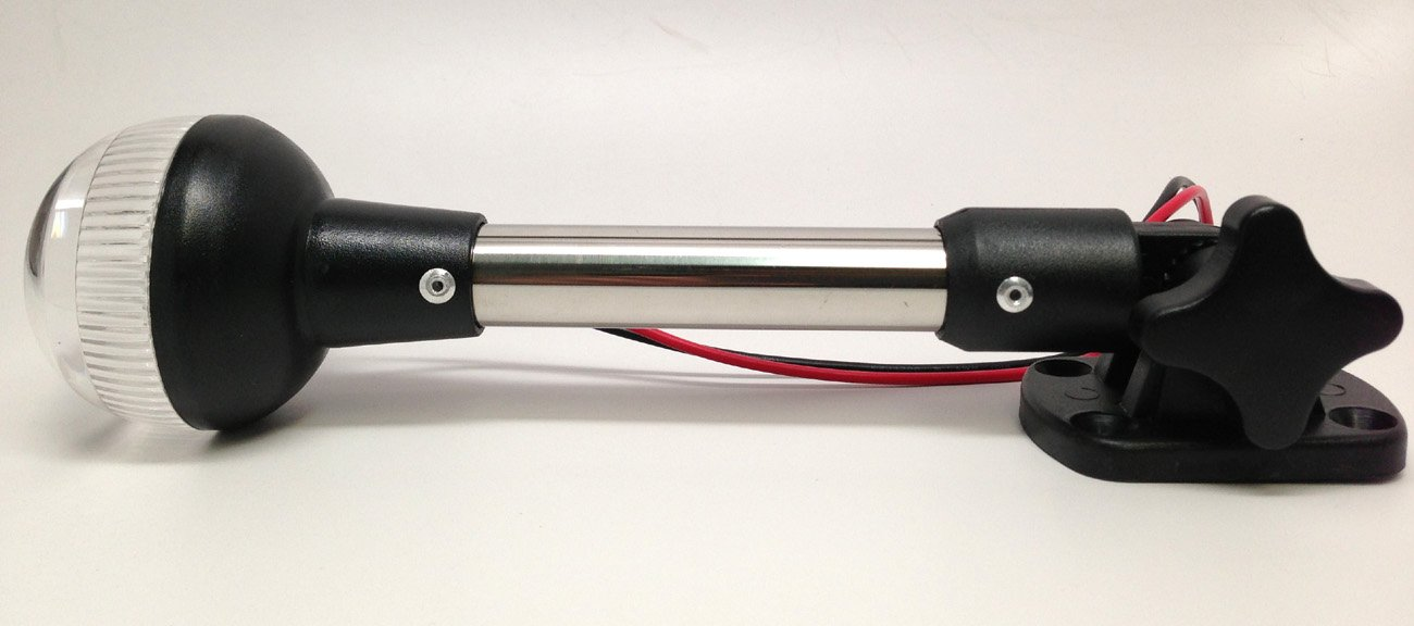 Pactrade Marine RV Adjustable Folding All Round Pole Light H Navigation Light SS by Pactrade Marine (Image #5)
