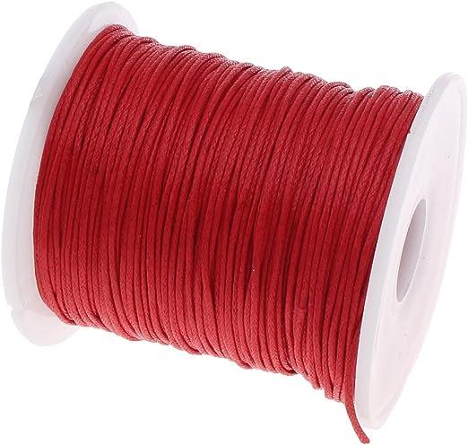 Perlin 75 m cordón de algodón Encerado Joyas 1 mm Rojo Cera Hilos Manualidades BPS C167: Amazon.es: Juguetes y juegos