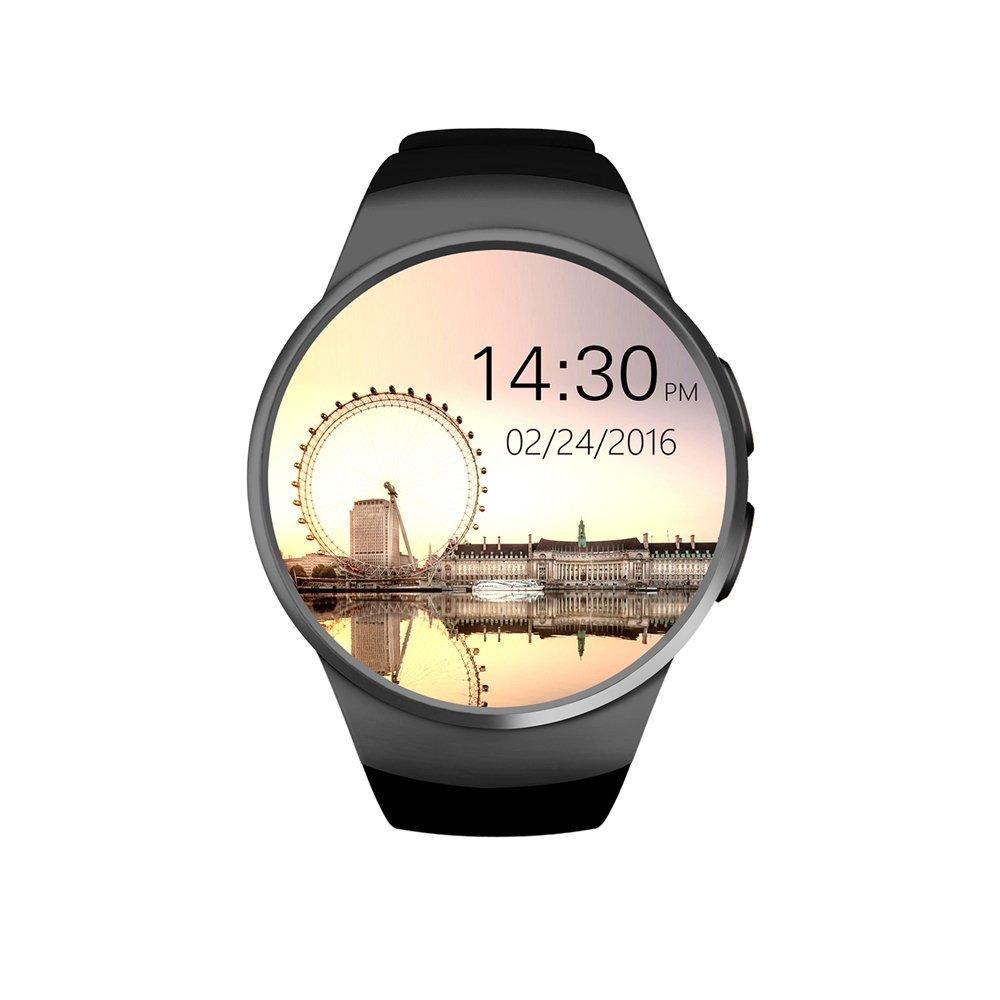 Reloj de pulsera inteligente Sununitec con pulsómetro, deportivo, compatible con la tarjeta SIM y TF, teléfono, podómetro, seguimiento del sueño, ...