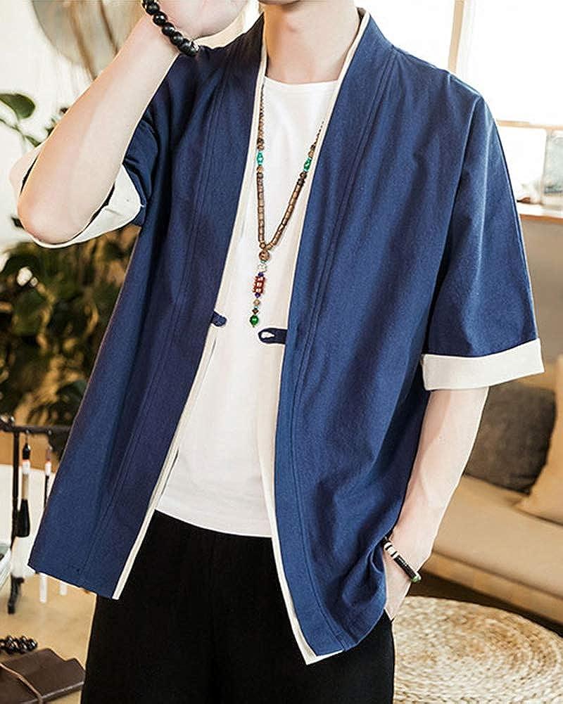Shaoyao Herren Japan Happi Kimono Jacke /Übergangsjacke M/äntel