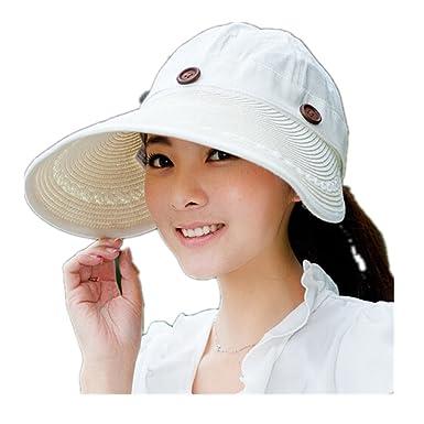 (cnhive)つば広ハットレディース 可愛い サンバイザー レディースUVカット帽子 夏 春