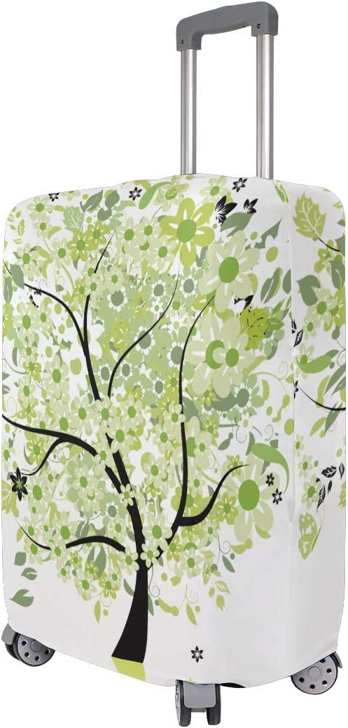 FOLPPLY Colorful Painting Tree With Butterfly Luggage Cover Baggage Suitcase Travel Protector Fit for 18-32 Inch