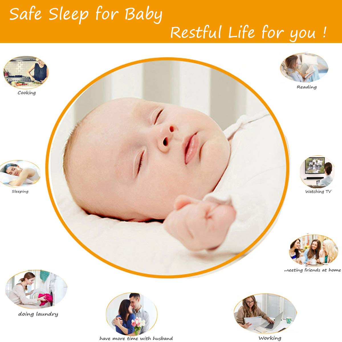 Baby Hammock for Crib Mimics Womb Newborn Bassinet Strong Material Upgraded Safety Measures Infant Nursery Travel Bed Reduce Environmental Risk Associated with Early Infancy Baby Shower Gift by SYITCUN (Image #3)