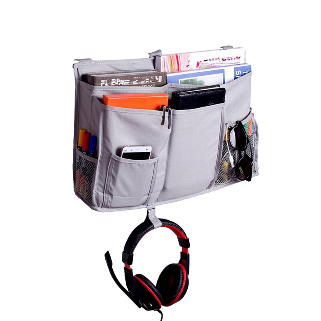 Peak Mall Hanging Organizer Bedside Storage Bag for Bunk Beds, Hospital Beds, Dorm Rooms Bed Rails