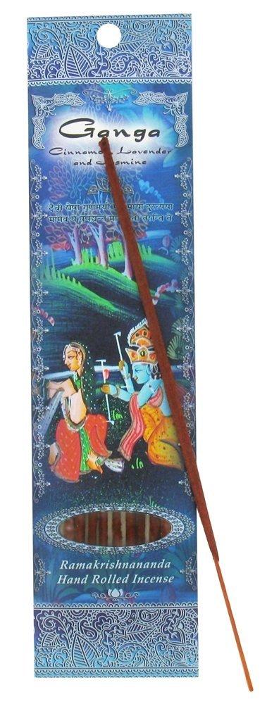 (Ganga, 1) - Ramakrishna Incense Sticks, Ganga, Cinnamon, Lavender, & Jasmine, Single Pack B002PR971E
