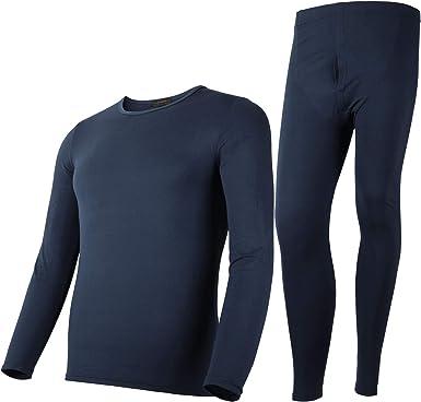 Rojeam Conjunto Interior Térmico para Mujer y Hombre Camiseta Manga Larga Pantalones Largos Ropa Interior Termica Invierno para Running Ciclismo Esquí: Amazon.es: Ropa y accesorios