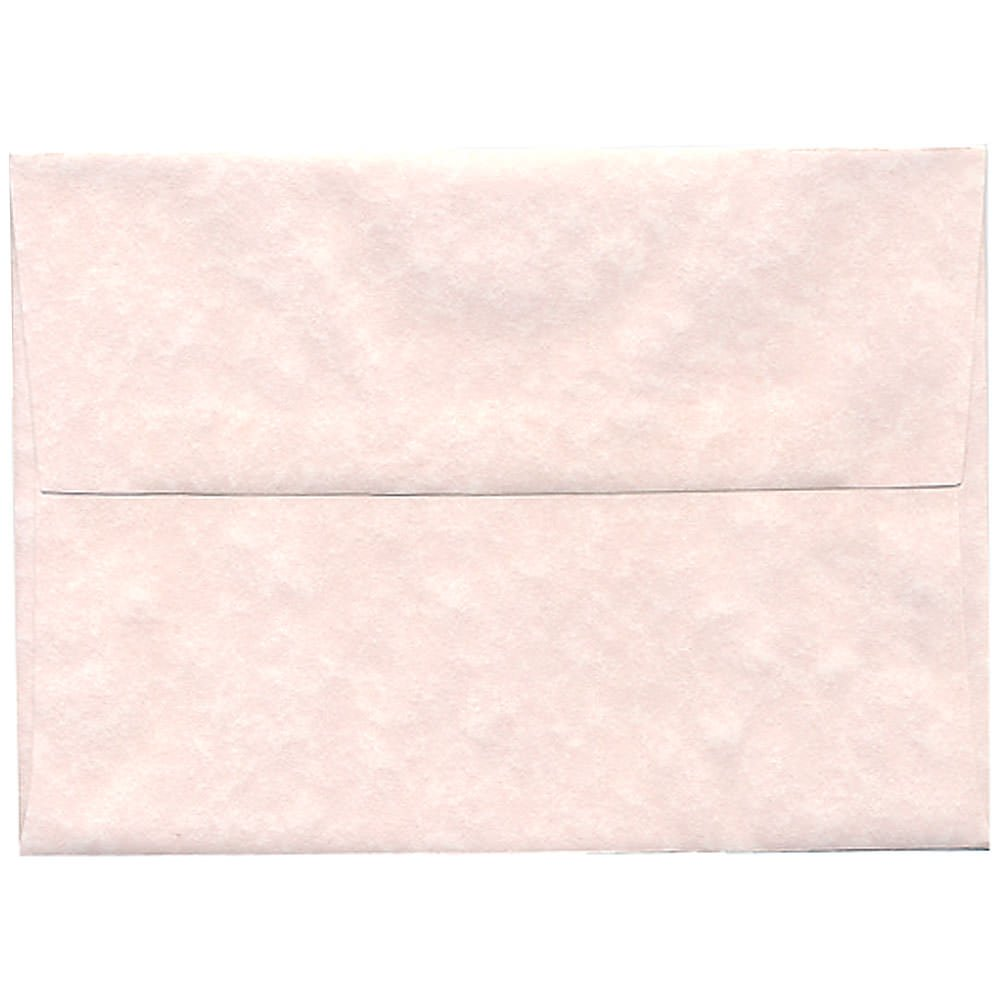 JAM Paper A7 Invitation Envelope - 133.35mm x 184.15 (5 1/4 x 7 1/4) - Parchment Pink Ice Recycled - 25/pack 97834
