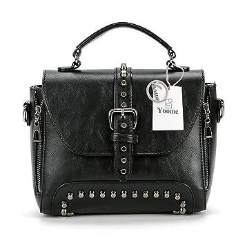 61bf22a45cdb6a Yoome Damen Handtasche mit Nieten und Nieten, Vintage-Stil, Punk-Stil