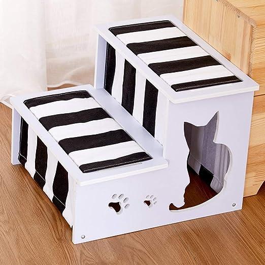 Escaleras Para Mascotas Perro de mascota Escaleras Escalera del gato del perro del entrenamiento desmontable General Perfil Perro Edad Media Formación de escalera Pasos Plegables Para Perros y Gatos: Amazon.es: Productos para