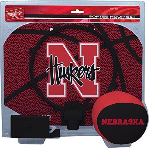 NCAA Nebraska Cornhuskers Kids Slam Dunk Hoop Set, Red, Small -