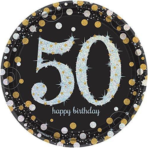 50th Sparkling Celebration Dessert Plates (16 Count)]()