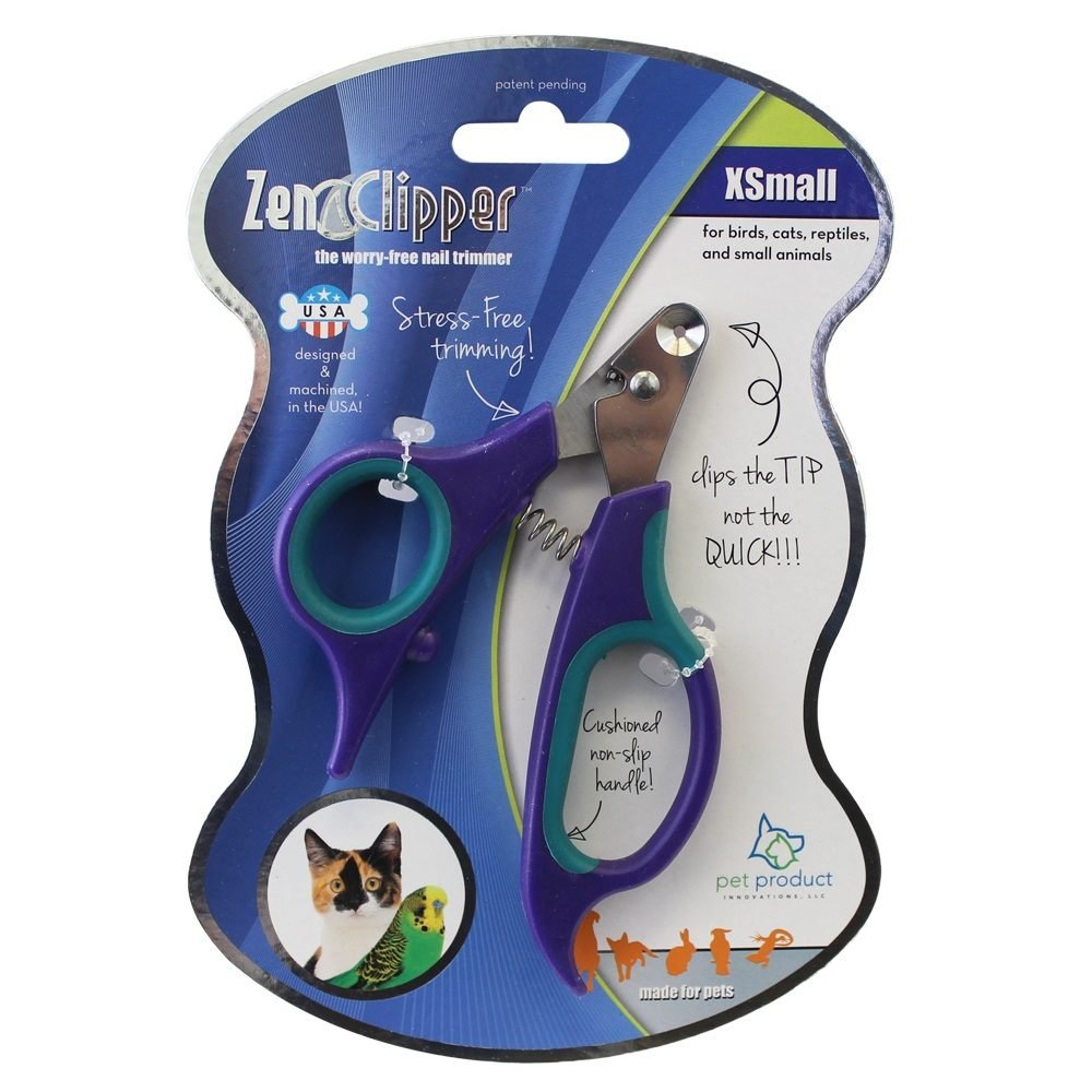 Zen Clipper Pet Nail Trimmers for Kittens, Birds Other Small Animals - the Worry-Free Nail Scissors -Unique Blade Clips the Tip Not the Quick - Stress/Injury-Free Nail Cutting and Grooming - 2m