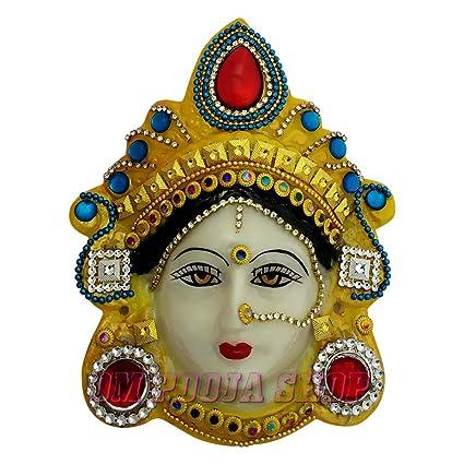 Buy Om Pooja Shop Margashirsha Lakshmi Face (6 inches) for