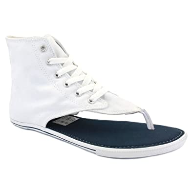 6de84b69cbe3 Converse All Star CT Thong Sandal Hi 522256 Womens Laced Canvas Sandals  White - 7  Amazon.co.uk  Shoes   Bags