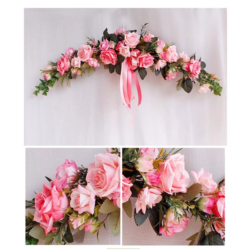 Reallyゾーンクラシック人工シミュレーション花アジサイの結婚式ホーム部屋ガーデンリンテルデコレーション 1PCS ピンク FZHHMM042502-3 B07CNFNTZS ピンク