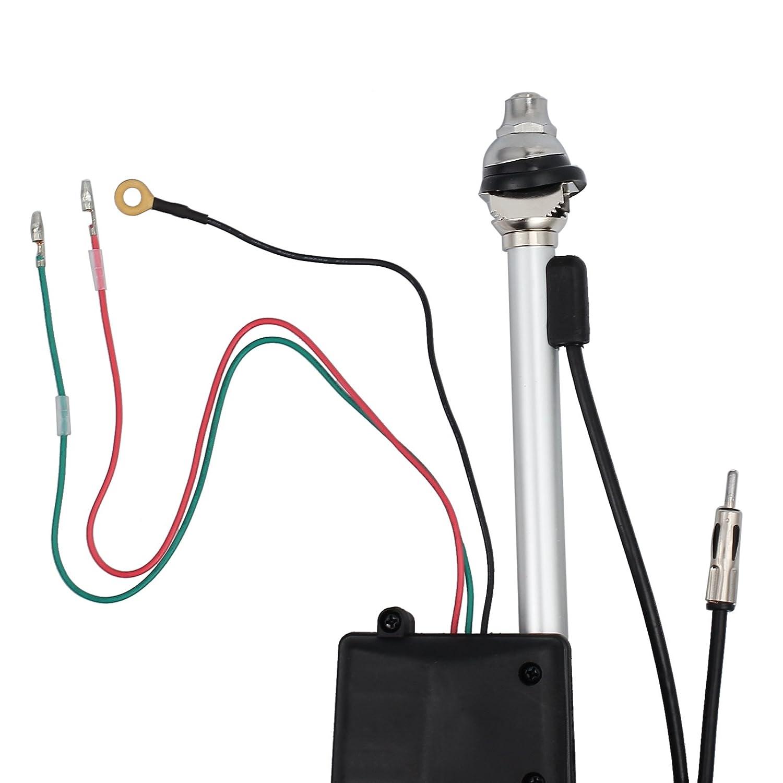 eSynic Universal Car SUV Electric Automatic Antenna AM FM Radio Mast Aerial Mast
