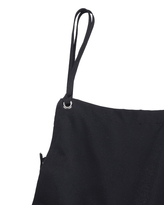 StyleDome Mujer Chicas Peto Vaquero Mono Largo Casual Elegante Moda Bolsillos Tiras Fiesta Oficina