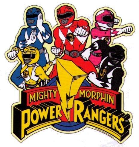 Animewild Mighty Morphin Power Rangers Characters Logo Sticker