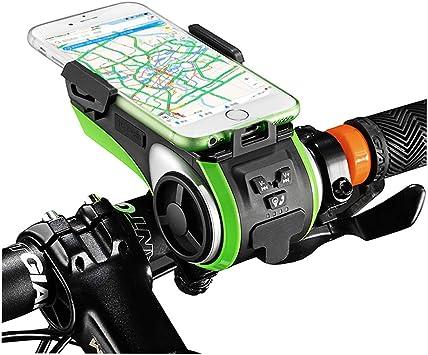 YOUANDMI Luz Bicicleta,IP5 Impermeable Portatiles Manos Libres ...