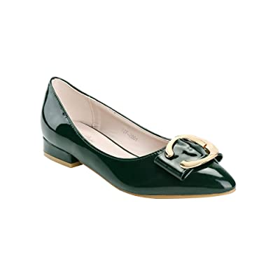 womens flat dress shoes Womens Low Block Heel Leather Pumps Shoes Square Toe Chunky Flats Dress Shoes with Silver Buckle Women's Pointed Toe Slingback Shoes Kitten Heel Low Heel Pumps Comfortable Dress Shoes Bridal Party