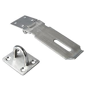Alise MS9 Padlock Hasp Door Clasp Hasp Lock Latch SUS 304 Stainless Steel Brushed Nickel