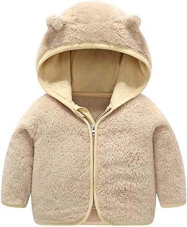 Baby Kid Girls Ear Warm Coat Fur Fleece Jacket Hooded Winter Teddy Bear Outwear