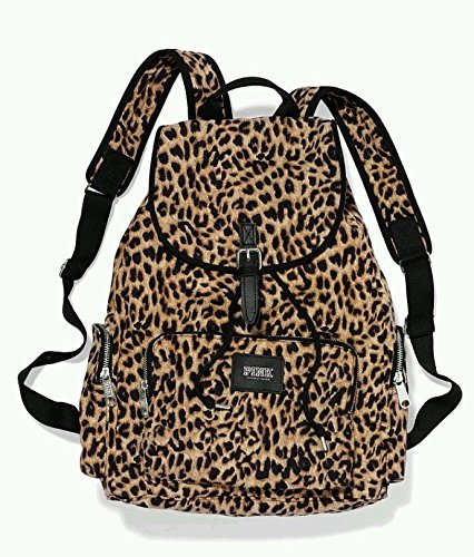 Amazon.com: Victoria's Secret PINK Backpack Leopard Cheetah Canvas ...