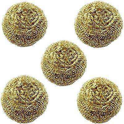 5 piezas de soldadura de punta de hierro limpiador de estaño de limpieza bola de soldadura auxiliar herramienta al por mayor
