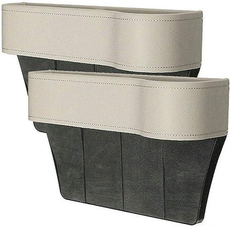 Lieikic Autositz Aufbewahrungsbox Leder Multifunktionale Aufbewahrungs Schlitz Box Auto Organizer Gap Autositz Seitentaschen Beige Auto