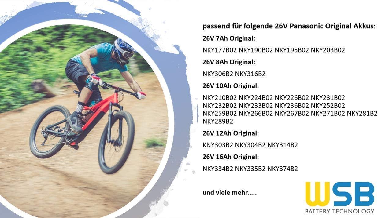 WSB - Batería para Bicicleta eléctrica NKY226B02 NKY231B02 ...