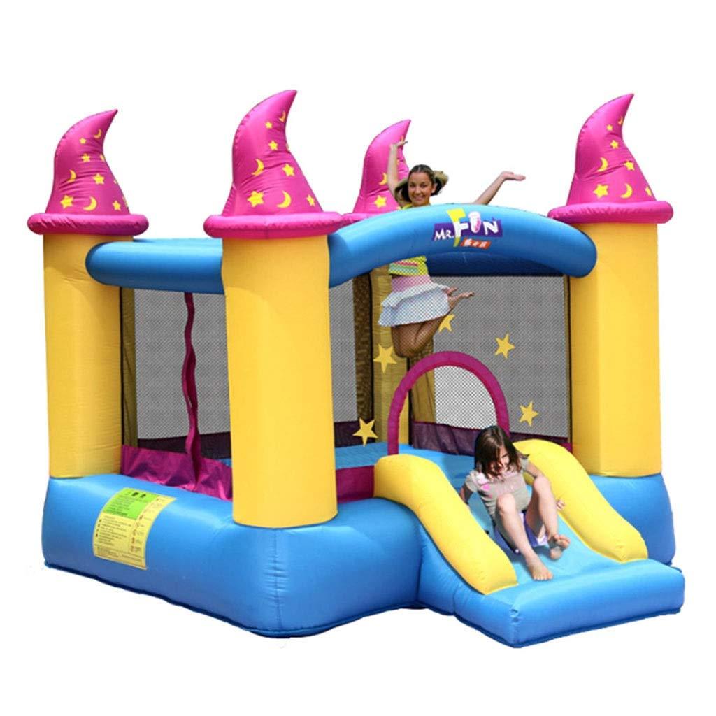 弾力がある城屋外の子供用スライド家の子供の膨脹可能な公園男女の遊び場屋内トランポリンいたずらなフォートプラザ (Color : Blue, Size : 279*236*213cm) B07SVY84Q9 Blue 279*236*213cm